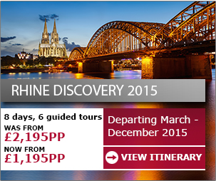 Rhine Discovery - Now from only £1,195pp >