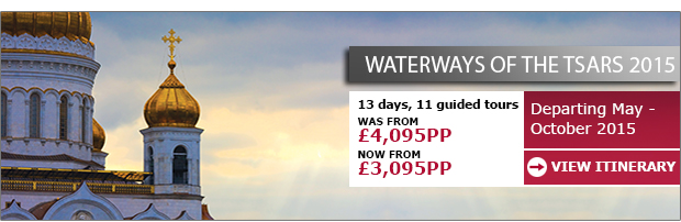 Waterways of the Tsars - Now from only £3,095pp >