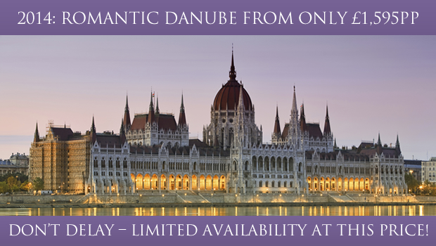 2014: Romantic Danube from only £1,595pp